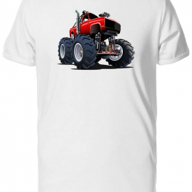 Cartoon Red Turbo Monster Men's Tee -Image by Shutterstock