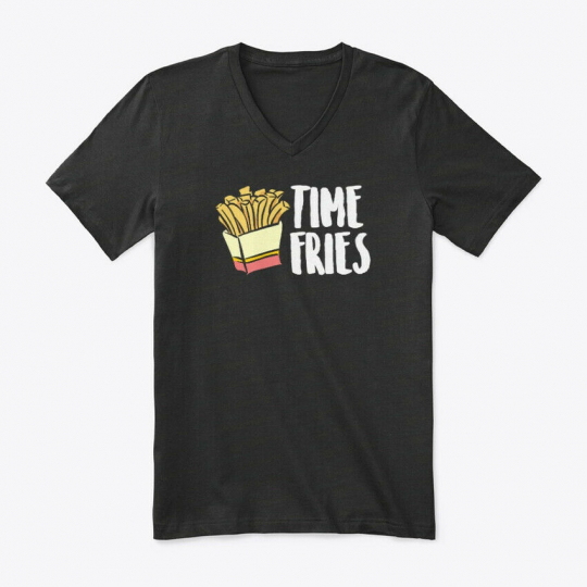Casual Time Fries Food Puns, Funny Premium Jersey V-Neck Premium Jersey V-Neck