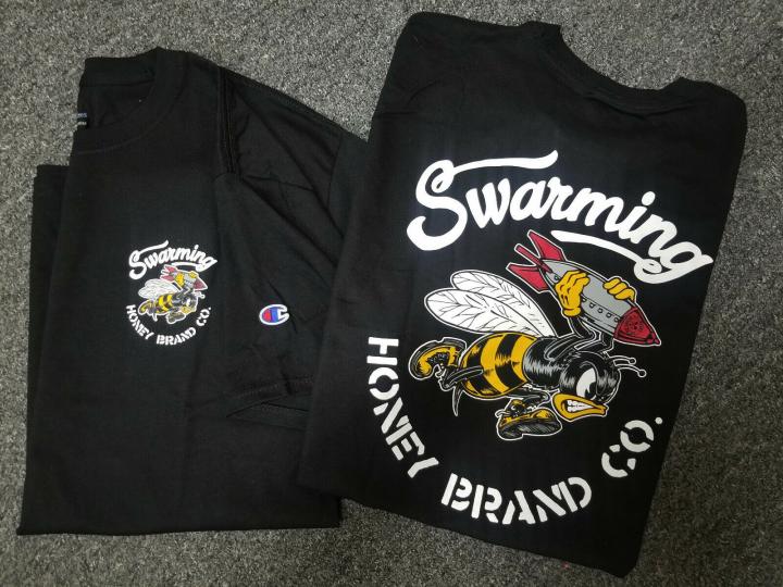 Champion x Honey Brand Mens S/S T-Shirt SWARM BOMB Stussy Primitive Obey S-2XL