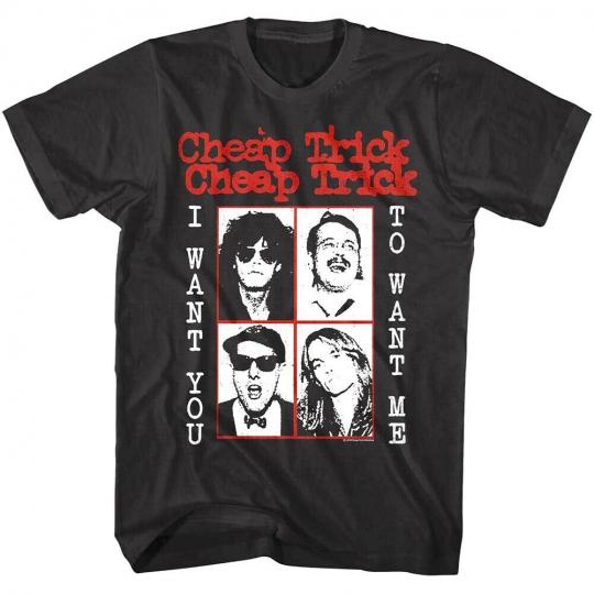 Cheap Trick I Want You to Want Me Album Men's T shirt Rock Band 77 Concert Merch