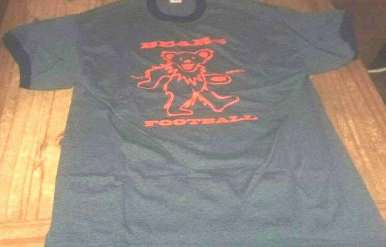 Chicago Bears X Grateful Dead Colab Ringer T-Shirt FARE THEE WELL SOLDIERS FIELD