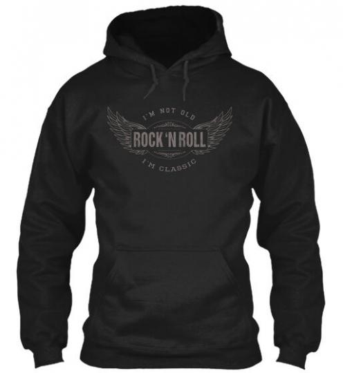 Classic Rock Music I'm Not Old 'n Roll Gildan Hoodie Sweatshirt