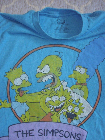 Classic The Simpsons Family Blue T-Shirt Size S