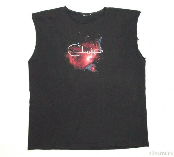 Clutch Vintage T Shirt 90's 1995 Tour Concert Stoner Rock Band Sleeveless XL