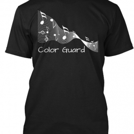 Color Guard Music Ribbon White – Hanes Tagless Tee T-Shirt