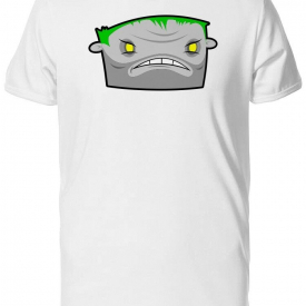 Cool Angry Zombie Cartoon Men's Tee -Image by Shutterstock