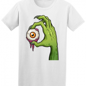 Cool Cartoon Zombie Hand With Eye Tee – Image by Shutterstock