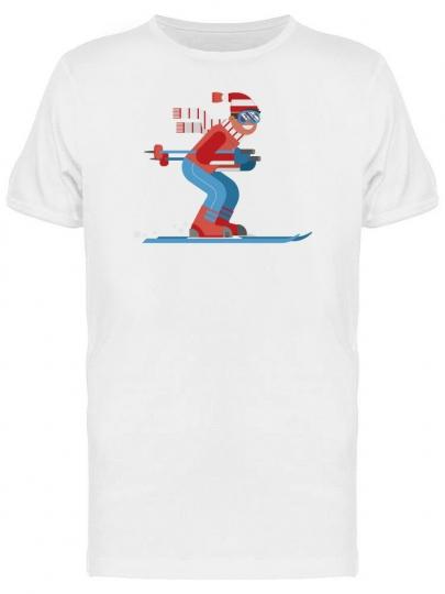 Cool Skier Man Cartoon Men's Tee -Image by Shutterstock