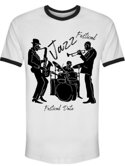 Cool Vintage Jazz Band Tee Men's -Image by Shutterstock