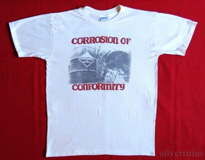 Corrosion Of Conformity Vintage T Shirt 1980's Concert Tour Technocracy XL