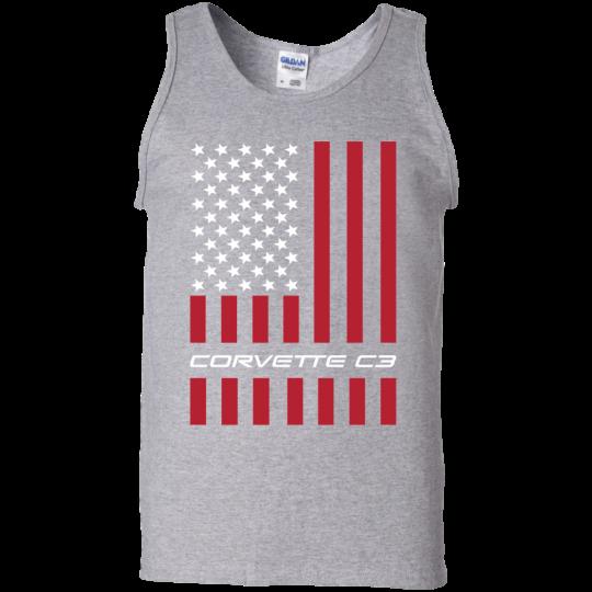 Corvette C3 American Flag USA Tank Top
