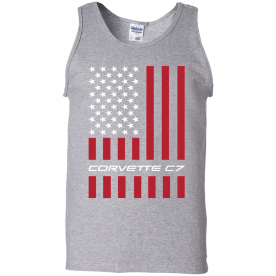 Corvette C7 American Flag USA Tank Top