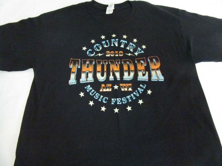 Country Thunder 2018 Concert Band Tour T-Shirt Large Size Double Sided