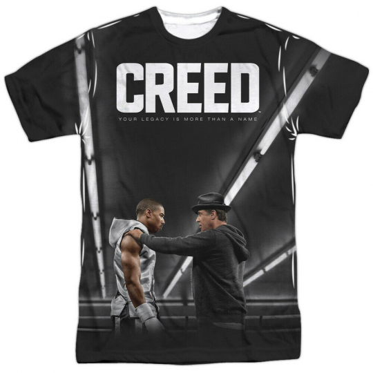 Creed Movie Poster Allover Sublimation Licensed Adult T Shirt