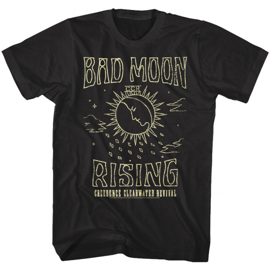 Creedence Clearwater Revival Bad Moon Rising Men's T Shirt CCR Rock Band Album