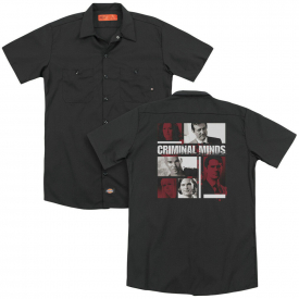 Criminal Minds TV Show CHARACTER BOXES Licensed Dickies Work Shirt All Sizes
