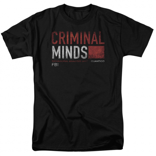 Criminal Minds TV Show Distressed Logo Quantico Adult T-Shirt All Sizes