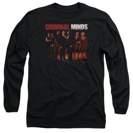 Criminal Minds TV Show THE CREW Cast Picture Licensed Long Sleeve T-Shirt S-3XL