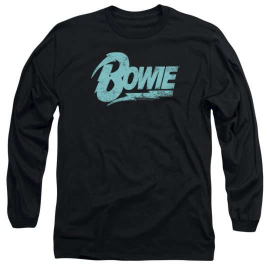 DAVID BOWIE LOGO Licensed Adult Men's Long Sleeve Graphic Band Tee Shirt SM-3XL