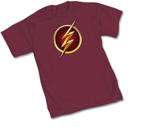 DC FLASH TV SHOW SYMBOL Logo - WOMEN'S BURGUNDY Licensed T-Shirt - S-XL