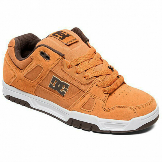 DC Shoes Men's Stag Low Top Sneaker Shoes Brown/Brown/White Skateboarding