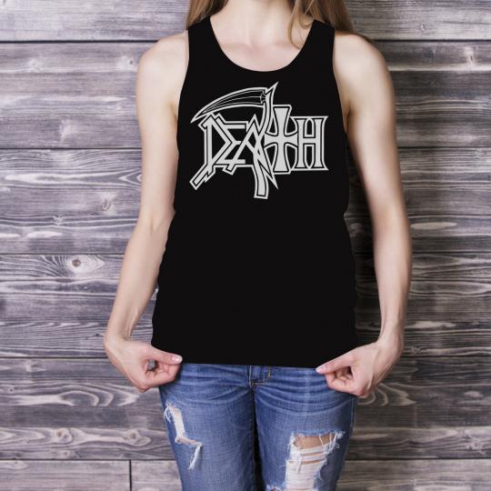 DEATH Logo Women Black Tank Top Death Metal Band Lady Singlet XS S M L XL 2XL 5