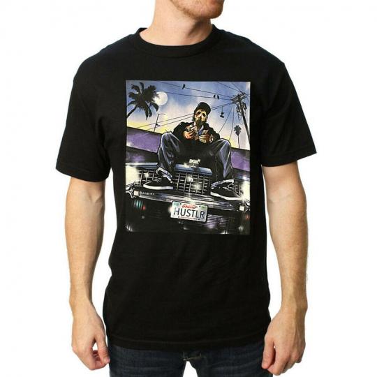 DGK Men's Hustlin 2 Short Sleeve T Shirt Black Tee T-Shirts Tattooed Skate Cl...