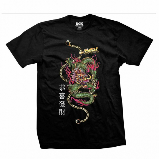 DGK Men's Prosperity Short Sleeve T Shirt Black Hip-Hop Weed 420 Tattooed Clo...