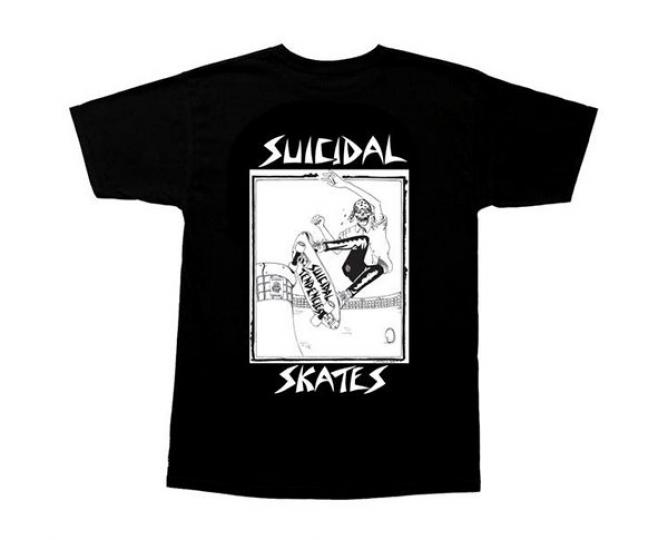 DOGTOWN Skateboards Suicidal Tendencies Pool Skater Lance Mountain Black T-Shirt