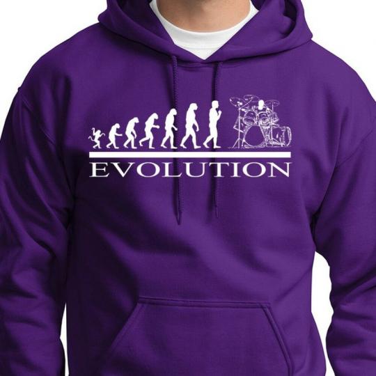 DRUMMER EVOLUTION Funny Rock Band T-shirt Music Humor Hoodie Sweatshirt