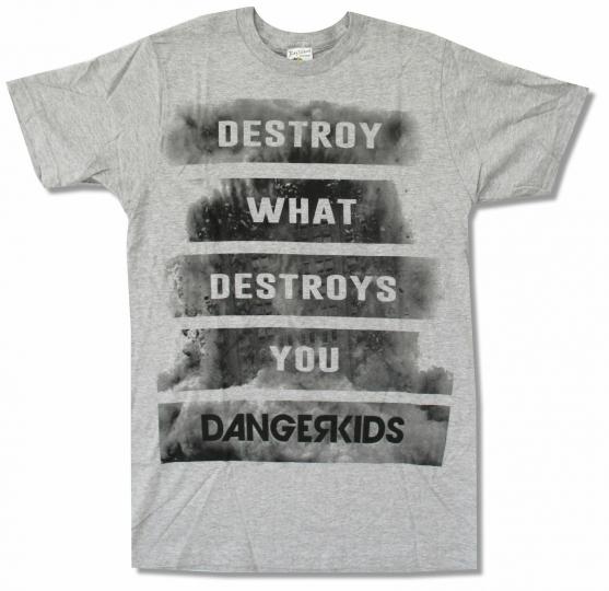 Dangerkids Destroy Grey T Shirt New Official Band Music