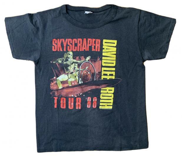 David Lee Roth SKYSCRAPER tour concert T-Shirt SZ XL 50/50 BLEND 1988 80s VTG