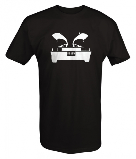 DeLorean Gullwing 88 MPH Back Future Design T Shirt