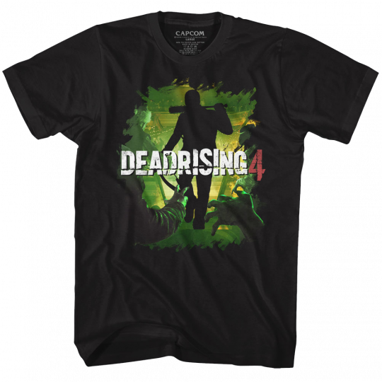 Dead Rising Dead 4 Black Adult T-Shirt