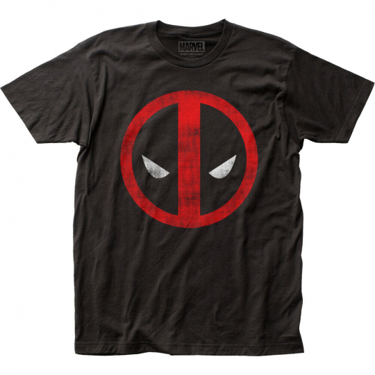 Deadpool Distressed Logo Fitted Classic T-Shirt