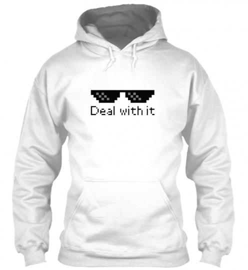 Deal With It Memes, Jokes, Internet Gildan Hoodie Sweatshirt