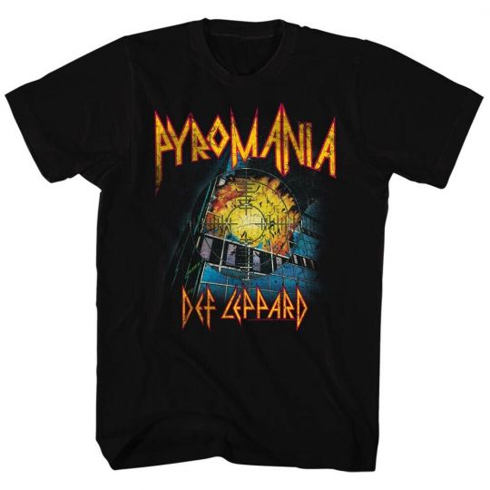 Def Leppard 80s Heavy Metal Band Rock and Roll It's On Fire Adult T-Shirt Tee