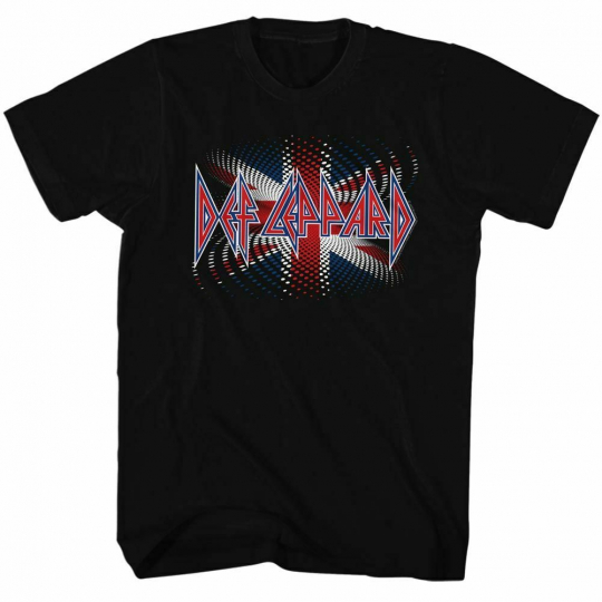 Def Leppard British Black Adult T-Shirt