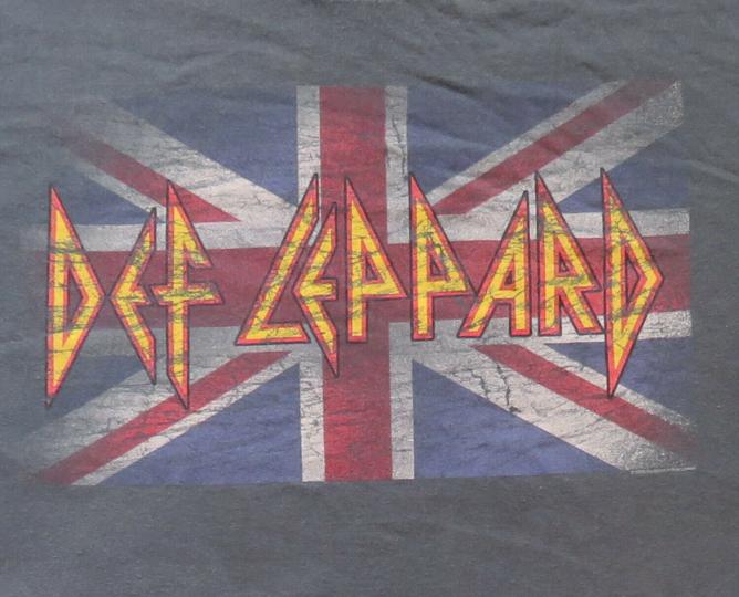 Def Leppard Vintage T Shirt 2006 Classic Union Jack Logo XL Rock Band
