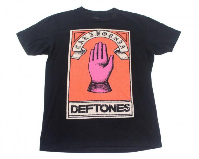 Deftones California Vintage T-Shirt Mens Size Medium Rock Metal Music album Tee