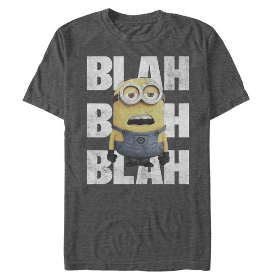 Despicable Me Minion Blah Blah Mens Graphic T Shirt