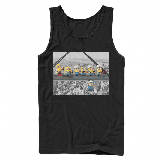 Despicable Me Minion Lunch Hang Out Mens Graphic Tank Top