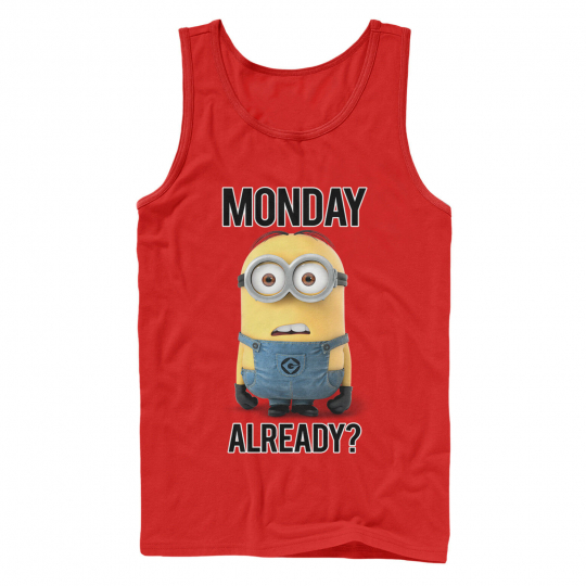 Despicable Me Minion Monday Already Mens Graphic Tank Top