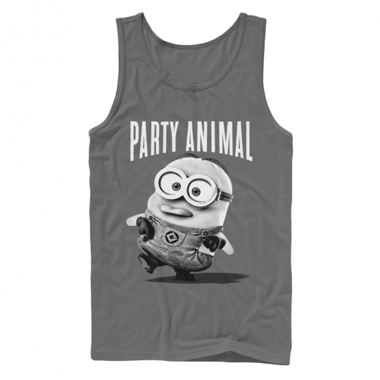 Despicable Me Minion Party Animal Mens Graphic Tank Top