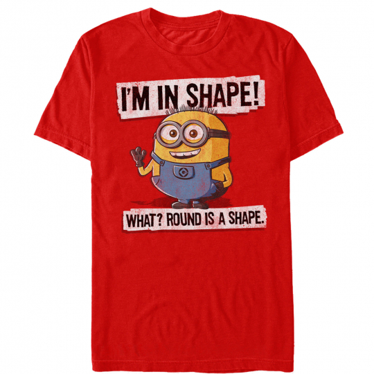 Despicable Me Minion Round Shape Mens Graphic T Shirt