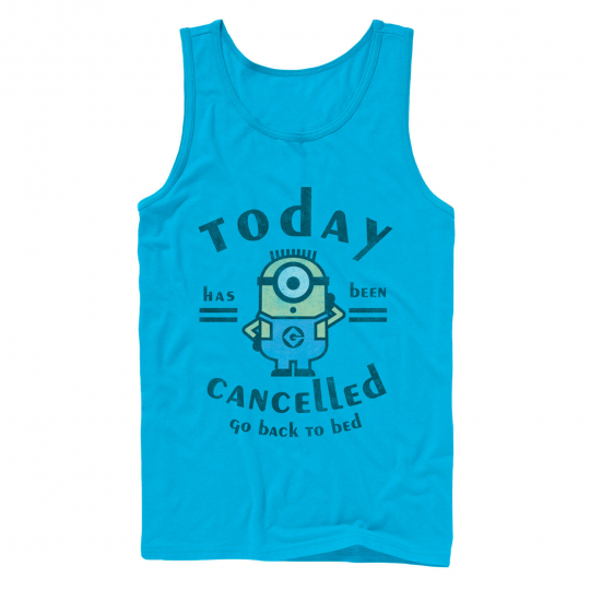 Despicable Me Minion Today Cancelled Mens Graphic Tank Top