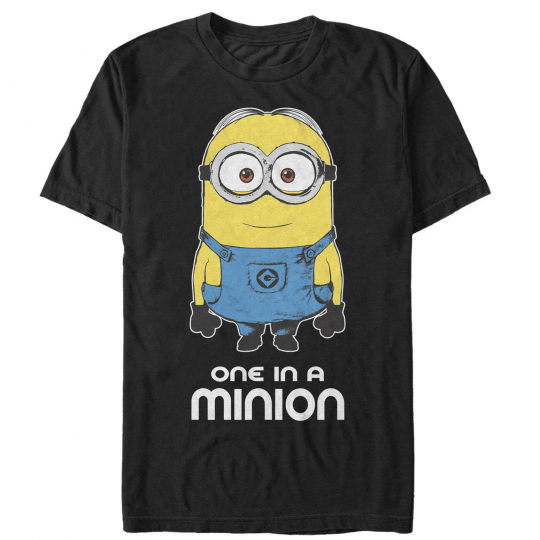Despicable Me One in Minion Mens Graphic T Shirt