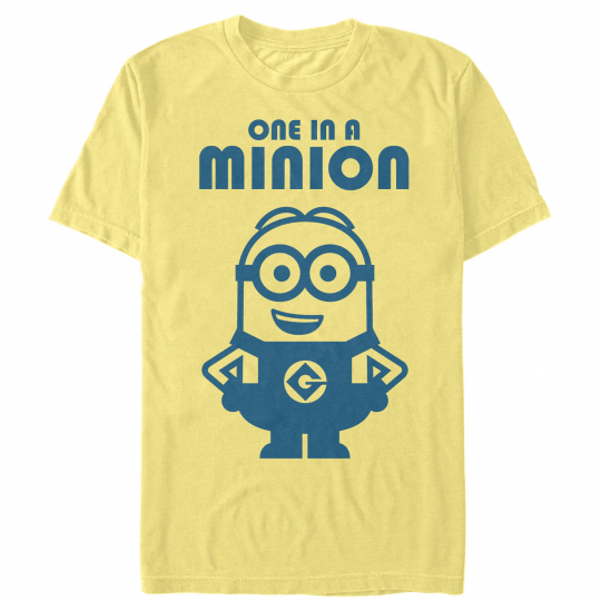 Despicable Me One in Minion Smile Mens Graphic T Shirt