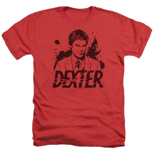 Dexter TV Show SPLATTER DEX Anthony C. Hall Adult Heather T-Shirt All Sizes