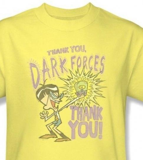 Dexter's Laboratory T-shirt Thanks Dark Forces cartoon network cotton tee cn261